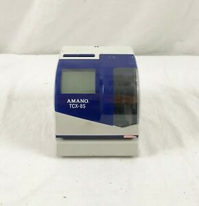 Amano Tcx 85 Electric Time Clock no Key Or Power Source