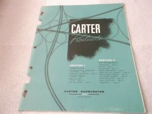 1959 Carter Carburetor Fuel Filter Parts Book