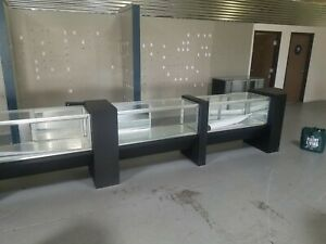 Large Store Retail Business Garage Shop Retail Display Glass Cabinet W Shelves