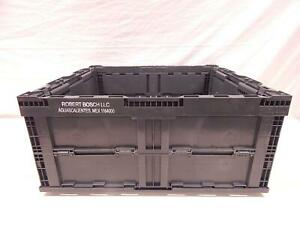 Pallet Of 16 Orbis Plastic Collapsible Storage Bin Containers 24x22x11