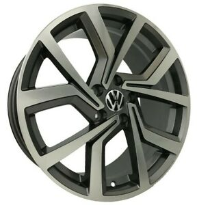 4pcs Volkswagen 18 Inch 8j 5x112 Et42 Alloy Wheel Cheap Rims Gunmetal 52083 7