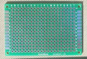Diy Double side Plated Thru Proto type Pcb Board 4x6 Cm 40x60 Mm 6pcs Per Lot