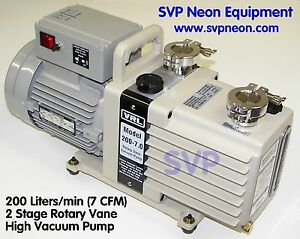 7 Cfm 200 L min 2 Stage Neon Sign Vacuum Pump Equipment Manifold Supply