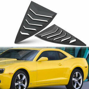 Quarter Side Window Scoop Louvers Cover For Chevy Camaro Ls Lt Rs Ss Gts 2010 15