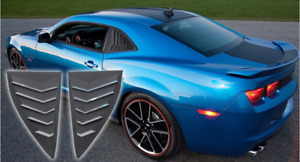 Quarter Side Window Scoop Louvers Cover Fit For 2010 2015 Camaro Ls Lt Rs Ss Gts
