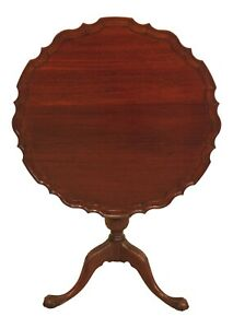 47109ec Chippendale 18th C Style Mahogany Tilt Top Table