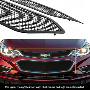 Fits 2016 2018 Chevy Cruze Upper Black Mesh Grille Insert
