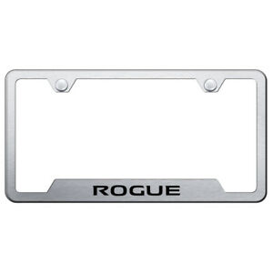 Brushed Cut out License Plate Frame Officially Licensed For Nissan Rogue