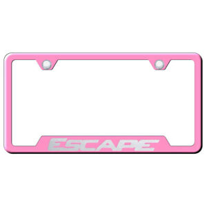 Pink Cut out License Plate Frame Officially Licensed For Ford Escape
