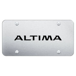 Brushed Stainless Steel License Plate Officially Licensed For Nissan Altima