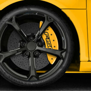 Yellow Caliper Covers Set Of 4 last Gen F 150 Logo For 2015 2018 Ford F 150