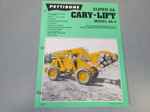 Rare Pettibone Cary Lift Super 8a Sales Sheet