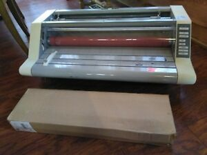 Gbc Heatseal Ultima 6 5 27 Roll Laminator Laminating Machine Works Fine