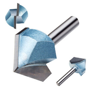 1 4 X 1 90 Degree Carbide Tipped Double Flute Cnc V groove Router Bit Cutter