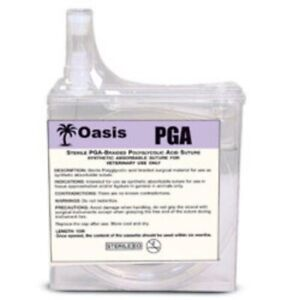 Oasis Veterinary Pga Suture Cassette Braided Absorbable Size 2 0 15 Meters