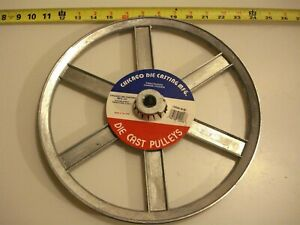 0470 Die Cast Pulley 12 Dia 5 8 Bore V belt A 6 spokes