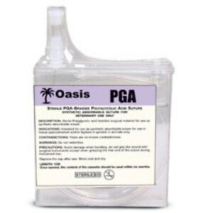 Oasis Veterinary Pga Suture Cassette Braided Absorbable Size 1 1 15 Meters