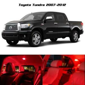 Red Led Light Interior Package Deal 10 Bulbs For 2007 2012 Toyota Tundra