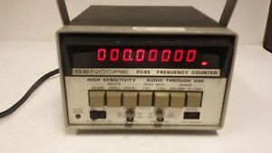 Sencore Model Fc45 Frequency Counter Free Shipping