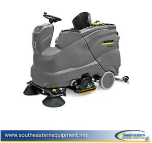 New Karcher B150 R Bp Rideon Floor Scrubber r 90 Cylindrical Scrub Deck 36v 312