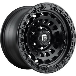 17x9 Black Fuel Zephyr D633 5x5 12 Wheels Lt285 70r17 Tires