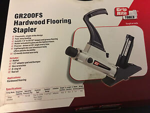 New Grip Rite 1 5 2 15 15 5 Gauge Hardwood Flooring Stapler Gr200fs