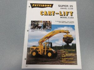 Rare Pettibone Cary Lift Super 25 Sales Sheet