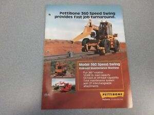 Rare Pettibone 360 Speed Swing Sales Brochure