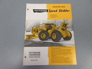 Rare Pettibone 1500 Speed Skidder Sales Sheet