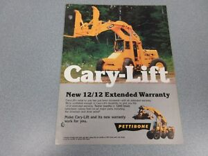 Rare Pettibone Super 8 10 15 20 25 30 Cary Lift Sales Brochure