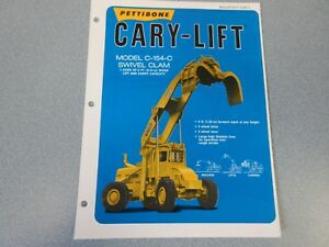 Rare Pettibone Cary Lift Sales Sheet