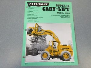Rare Pettibone Cary Lift Super 15 Sales Sheet