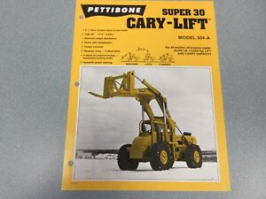 Rare Pettibone Cary Lift Super 30 Sales Sheet