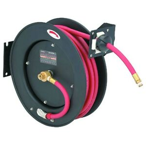 New 50 Ft Retractable Air water Hose Reel W 3 8 Hose