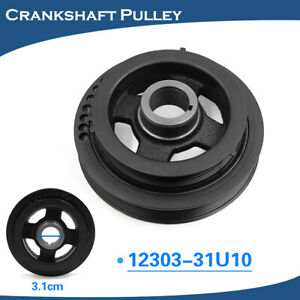 30950232 Harmonic Balancer Crankshaft Drive Belt Pulley For 95 01 Nissan Maxima