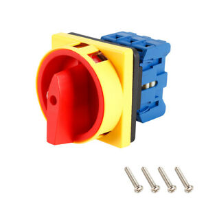 Changeover Switch 2 Position Rotary Selector Cam Switch Panel Mount 6 Terminals