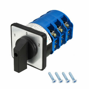 Changeover Switch 3 Position Rotary Selector Cam Switch 24 Terminal Latching