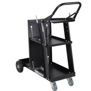 Goplus Welder Welding Cart Plasma Cutter Mig Tig Arc Universal Storage For Tanks