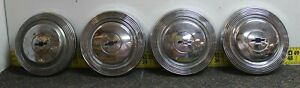 Oem Gm Set Of 4 10 1 2 Dog Dish Center Hub Caps 1965 67 Impala Bel Air Svm39b