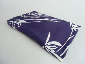 Japanese Wrap Cloth Kimono Vtg Furoshiki Hankerchief Purple Flower Nylon Fu34