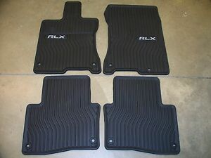 Genuine Oem 2014 2017 Acura Rlx Black All Season Winter Weather Floor Mats
