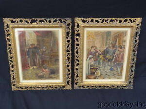 Pair Ornate Gold Gilt Carved Wood Picture Frames 15 X 17 3 4 The Great Operas