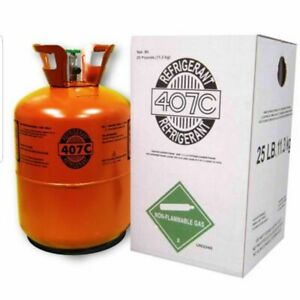 R407c refrigerant 25 Pound 407c Factory Sealed With Oil R22 Replacement R 22