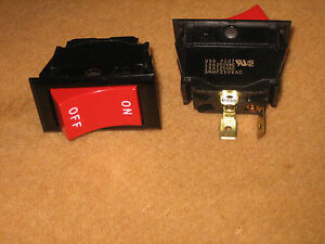 Qty 100 Eaton On off Red Rocker Spst Switch 125vac 15a 3 4hp