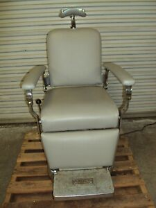 Reliance Koenigkramer Barber Chair Antique Vintage Electric Optometry Exam