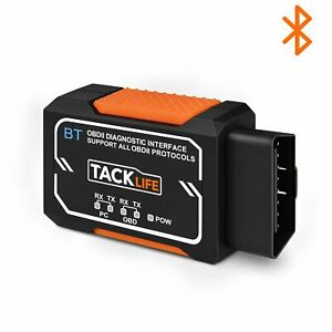 Obd2 Scanner Tacklife Bluetooth Obd2 Diagnostic Real time Scanning Tool Aobd1b