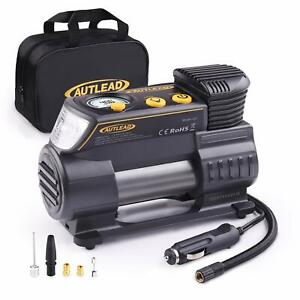 Autlead 12 Volt Dc Portable Tire Inflator With Digital Gauge Air Compressor Pum