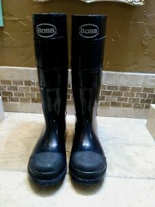 Boots Heavy Duty Boss Work Rain Construction Mens Size 10 Safety Equipment
