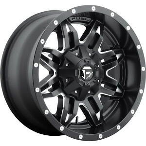 18x9 Black Fuel Lethal 6x135 6x5 5 12 Rims Open Country Mt 35 Tires