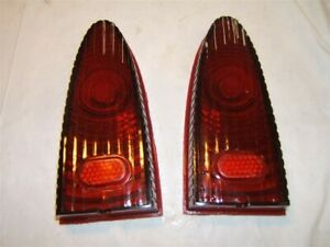 1953 Plymouth Tail Stop Light Lens Pair Nos 1436451